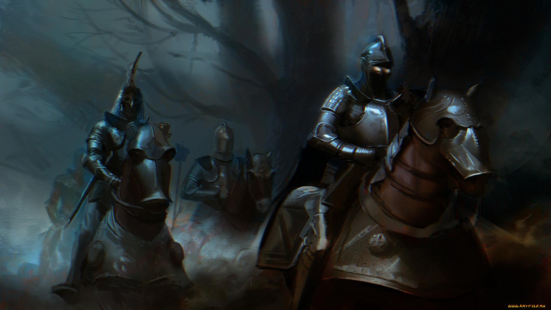 Обои доспехи, Рыцарь, лошадь. Разное foto 16